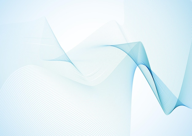 Abstract background with blue flowing lines design