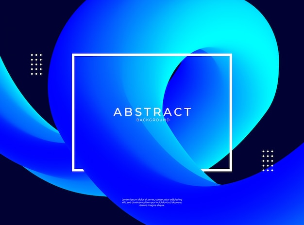 파란색 액체 모양으로 추상적 인 배경