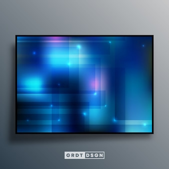 Abstract background with blue gradient effect