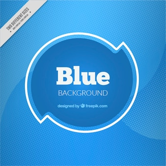Abstract background with blue halftone dots