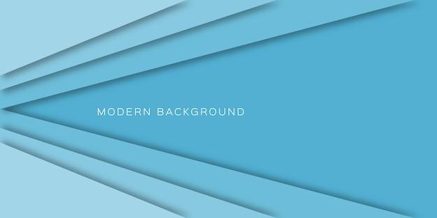 青い光の紙のカットラインと抽象的な背景