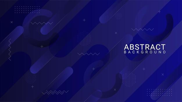 青いメタリック形状の抽象的な背景