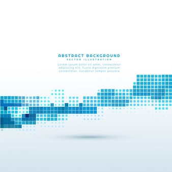 Abstract background with blue pixels