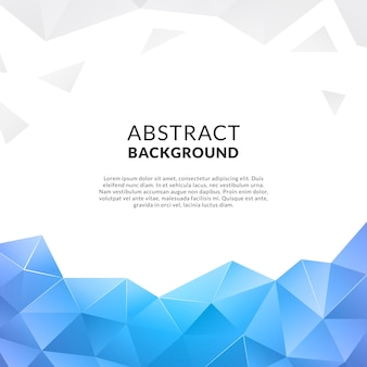 Abstract background with blue shapes