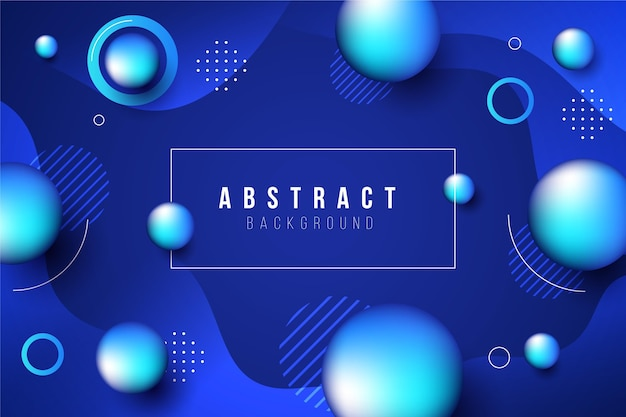 Abstract background with blue spheres