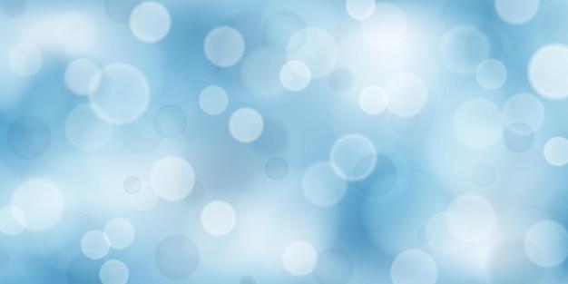밝은 파란색 색상의 보케 효과가 있는 추상적인 배경