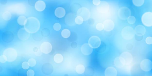 연한 파란색의 보케 효과가 있는 추상적인 배경