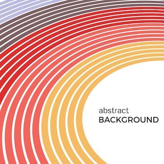 明るい虹のカラフルな線で抽象的な背景。白い背景の上のテキストの場所と色付きの円。