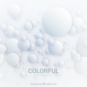 Abstract background with bubble shapes