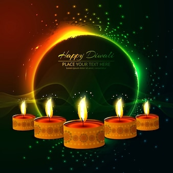 Abstract background with candles for diwali