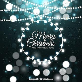 Абстрактный фон с рождественские огни