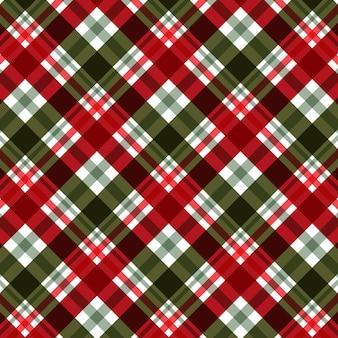 Sfondo astratto con motivo scozzese a tema natalizio