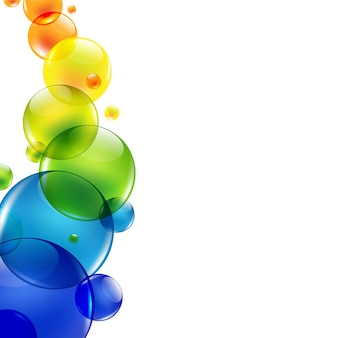 Abstract background with color balls,