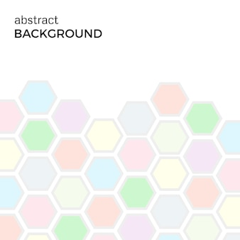 色の六角形の要素を持つ抽象的な背景。ベクトルイラスト。