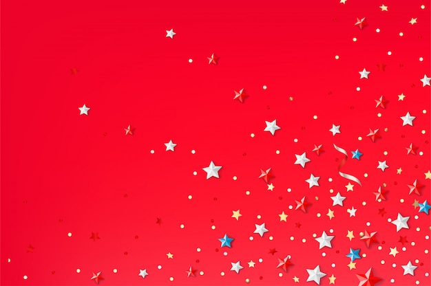 Abstract background with color stars