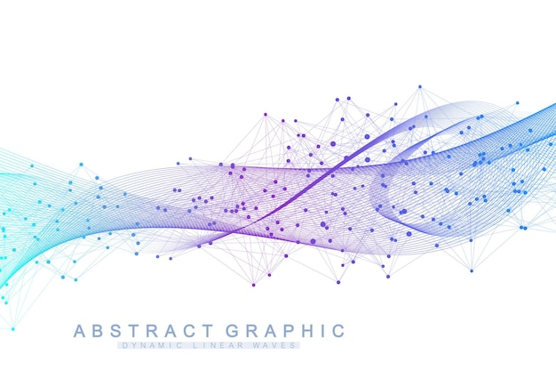 Abstract background with a colored dynamic waves