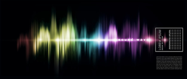 Abstract background with a colored sound wave