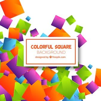 色の正方形との抽象的な背景