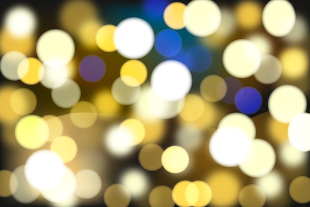 Abstract background with colorful bokeh circles