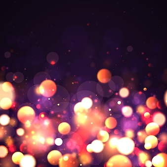 Abstract background with colorful bokeh effect. dust particles.