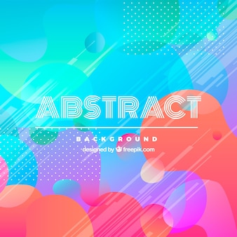 Abstract background with colorful bubbles