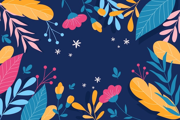 Abstract background with colorful flowers