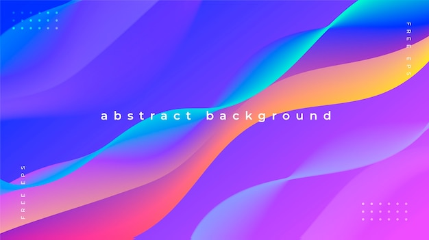 Abstract background with colorful and fluid waves
