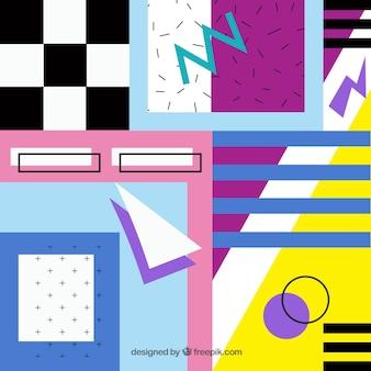 Sfondo astratto con forme geometriche colorate