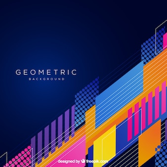 Abstract background with colorful geometric shapes