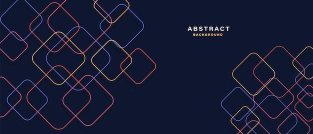 Абстрактный фон с красочными геометрическими фигурами