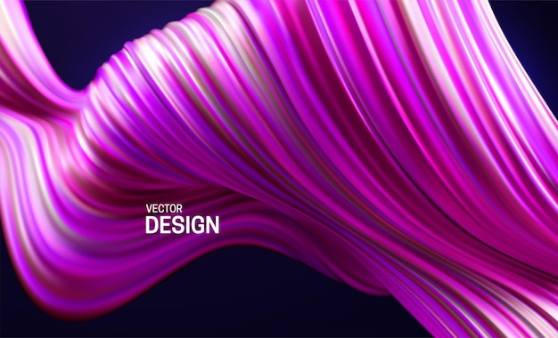 Abstract background with colorful pink and purple striped wave