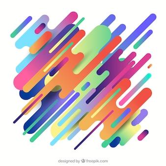 カラフルな丸い形の抽象的な背景 無料ベクター