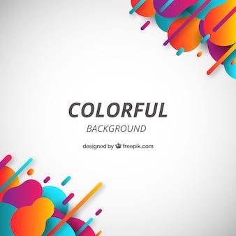 Абстрактный фон с красочными закругленными фигурами