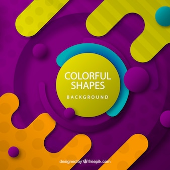 Abstract background with colorful rounded shapes