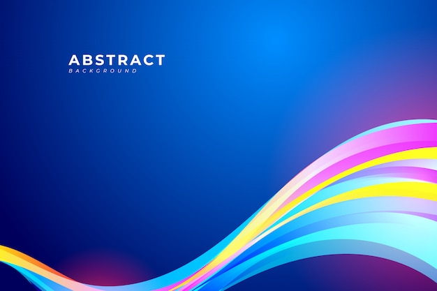 Abstract background with colorful wave and fluid design element for your poster, banner, brochure, landing page.