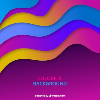 Abstract background with colorful waves