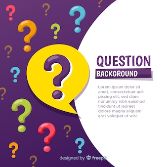 Abstract background with coloured question marks