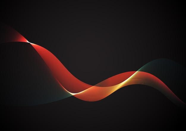 다채로운 흐르는 라인 디자인으로 추상적인 배경