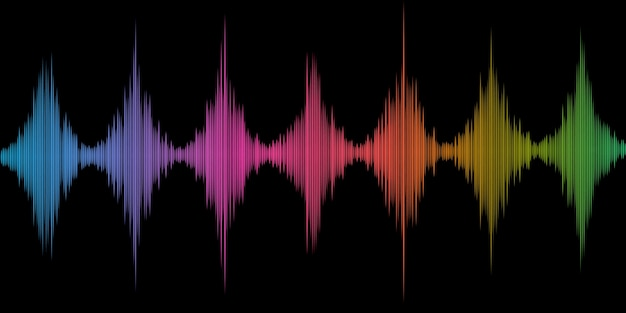 Abstract background with a colourful soundwaves design