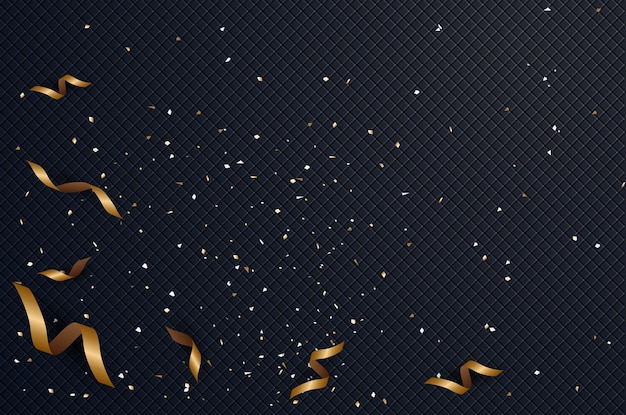 Abstract background with confetti gold