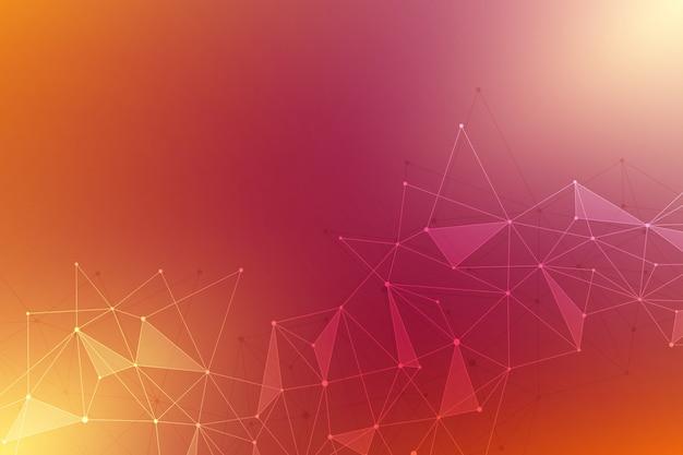 接続された直線と点と抽象的な背景。