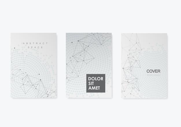 接続された直線と点と抽象的な背景