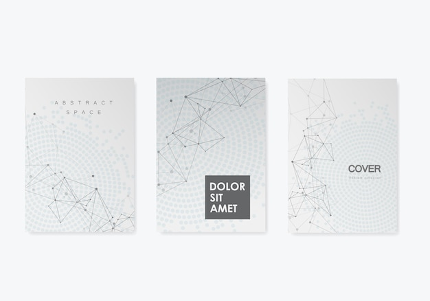 Abstract background with connected lines and dots