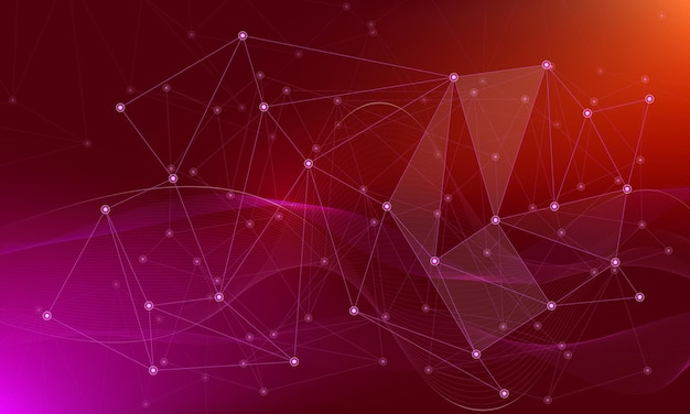 Абстрактный фон с соединительными точками и линиями