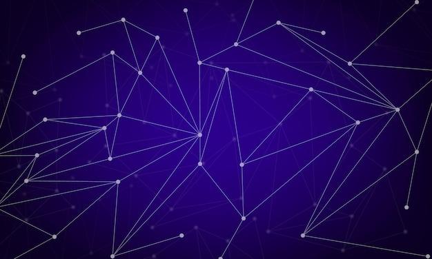点と線を結ぶ抽象的な背景