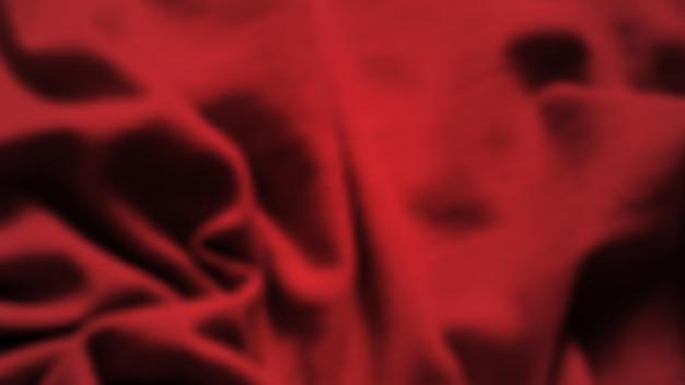 しわくちゃの布で抽象的な背景。空きスペースのある濃い赤のリアルなシルクの質感。ベクトルイラスト