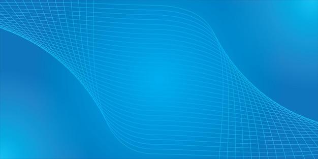 曲線の波線と抽象的な背景デザインのベクトル図線からの波