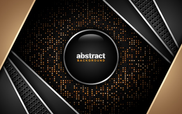 Abstract background with dark color scheme: overlap layer style