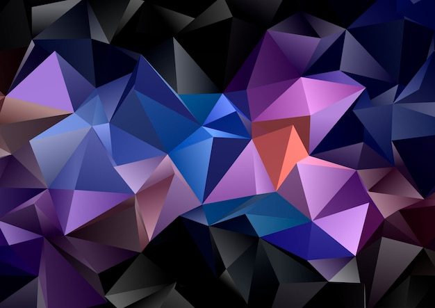 Abstract background with a dark low poly geometric design
