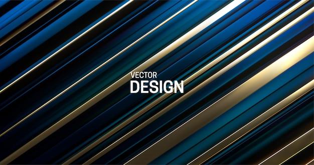 深い青と金色の層状の表面を持つ抽象的な背景